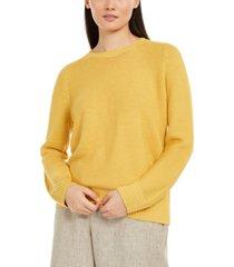 eileen fisher crewneck knit sweater, regular & petite sizes