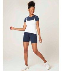 shorts básico feminino adulto malwee azul escuro - gg