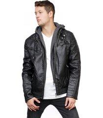 chaqueta ecocuero negra todopiel