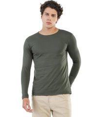 camiseta manga larga verde militar manpotsherd carl