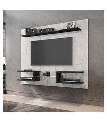 painel para tv até 55 pol móveis bechara atlas 2 nichos