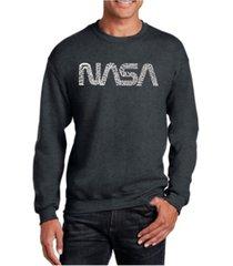 la pop art men's word art worm nasa crewneck sweatshirt