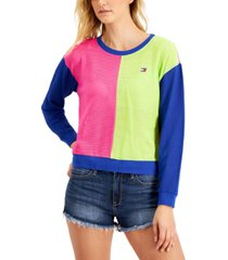 tommy hilfiger mesh colorblocked sweatshirt