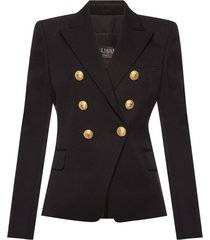blazer with decorative buttons