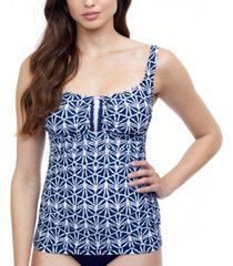 profile by gottex nomad d-cup tummy-control tankini top women's swimsuit