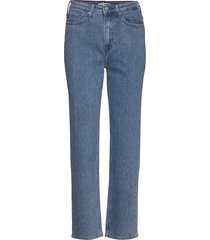 classic straight hw c lizz raka jeans blå tommy hilfiger