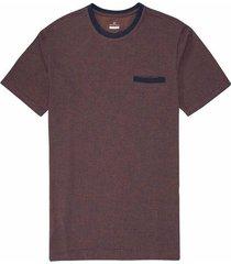 camiseta cuello redondo en jacquard basic fit para hombre 95826