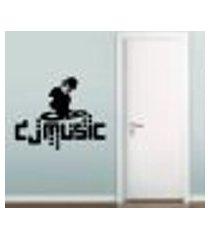 adesivo de parede dj music - médio