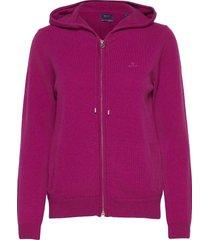 superfine lambswool zip hoodie hoodie trui paars gant