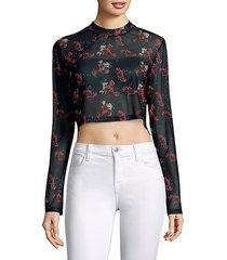 charlie floral-print top