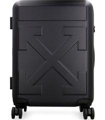 off-white polycarbonate hardshell suitcase