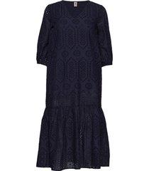 anglaise cecilie dress jurk knielengte blauw becksöndergaard