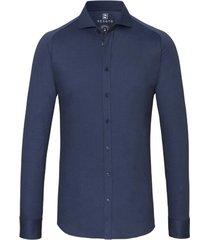 desoto overhemd nachtblauw fijne streep