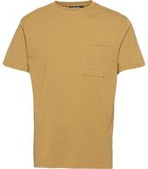 seaside tee m t-shirts short-sleeved brun tenson
