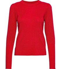pzjade pullover stickad tröja röd pulz jeans