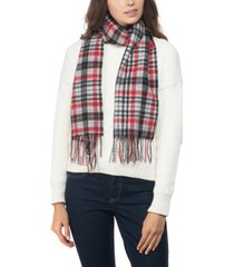 charter club cashmere plaid scarf, created for macy's