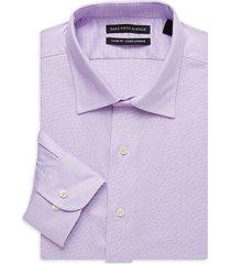 saks fifth avenue men's mini dot classic-fit shirt - purple - size 17 32-33