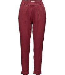 pants w. fold-up hem casual byxor röd coster copenhagen