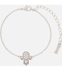 ted baker women's hersha hidden heart hand bracelet - rhodium