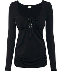 maglia con allacciatura (nero) - bodyflirt boutique