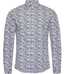 camo print stretch slim shirt skjorta casual blå calvin klein