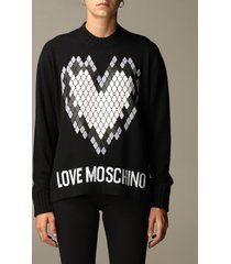 love moschino sweater love moschino pullover with heart print