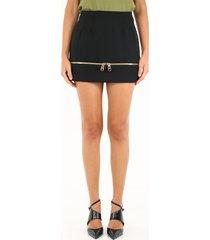dolce & gabbana black mini skirt with zip