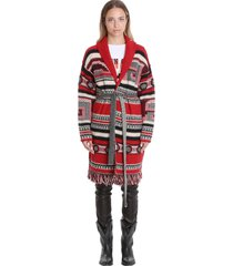 golden goose azul cardigan in red wool