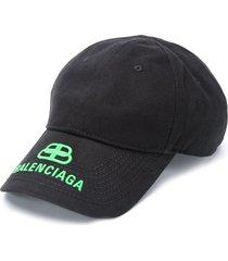 balenciaga bb visor cap - black