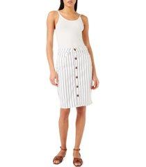 jen7 striped denim skirt