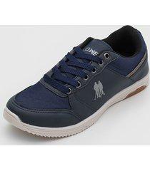 sapatênis polo wear logo azul-marinho - kanui