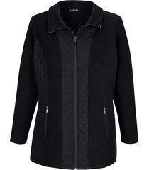fleece vest m. collection zwart