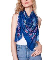 steve madden large voile floral scarf
