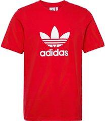 adicolor classics trefoil t-shirt t-shirts short-sleeved röd adidas originals