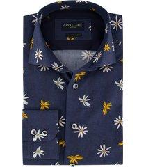 bloem overhemd cavallaro mouwlengte 7 navy