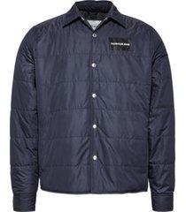 light weight shirt jacket azul calvin klein