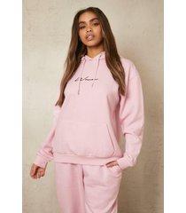 gerecyclede woman hoodie, pale pink