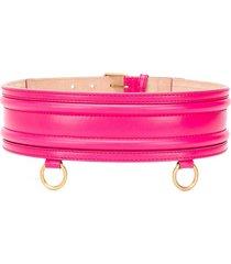 alexander mcqueen double strap belt - pink