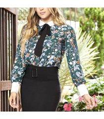 blusa eimy verde para mujer croydon