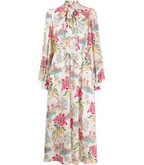 peter pilotto column flower dress - white