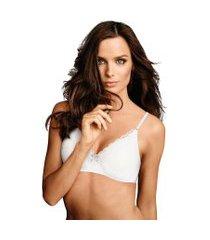 soutien maidenform comfort lace 9456 - branco - maidenform