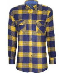 camisa leñadora amarillo kotting