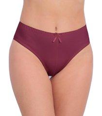 calcinha vip lingerie tangão algodão cintura alta bordô