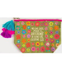 natural life® no one ever canvas pouch