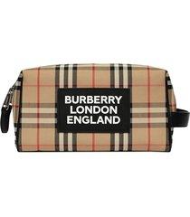 burberry vintage check travel pouch - neutrals
