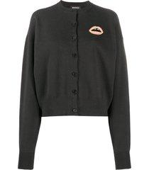 markus lupfer may beaded lip cardigan - black