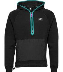 nb athletics terrain hoodie hoodie trui zwart new balance