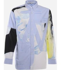 j.w. anderson cotton shirt with frayed details