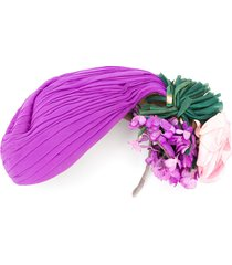 a.n.g.e.l.o. vintage cult 1940s floral detail hat - purple