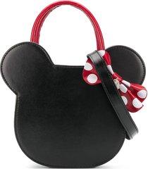 monnalisa minnie head shoulder bag - black